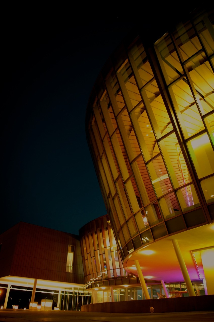 Griffin Hall at night