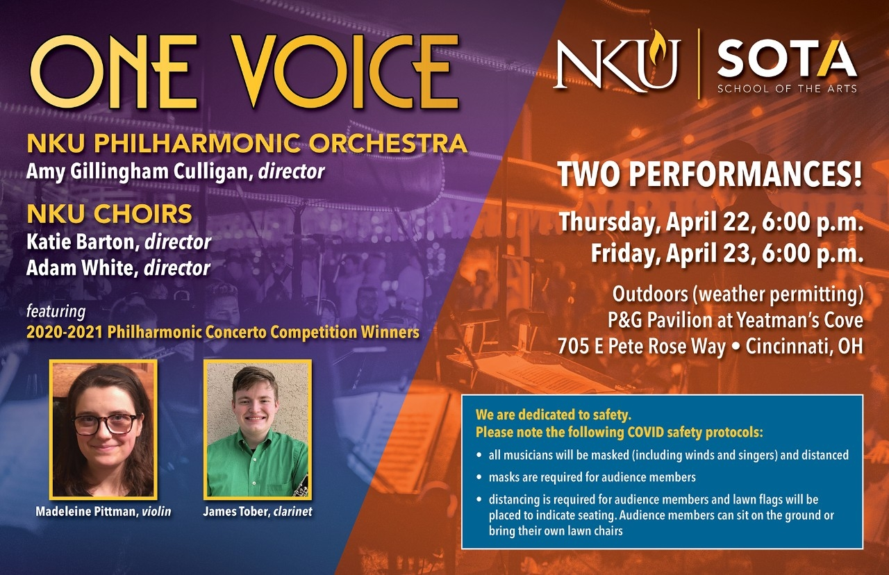 One Voice concert poster