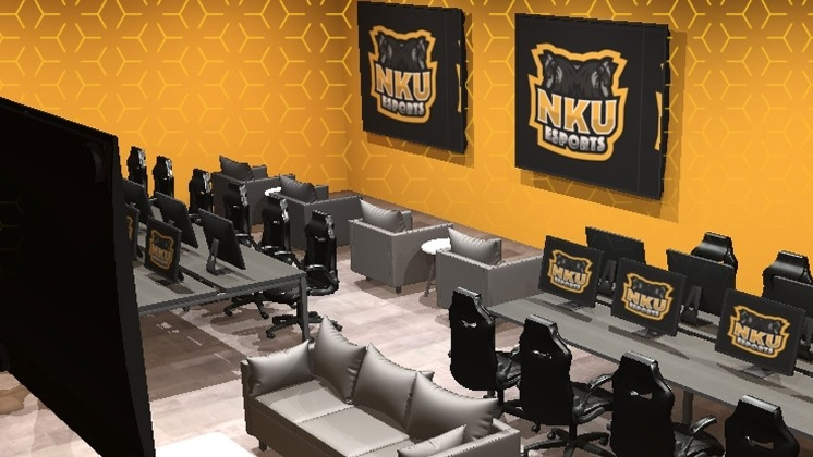 Rendering of The Sandbox, NKU's Esports arena