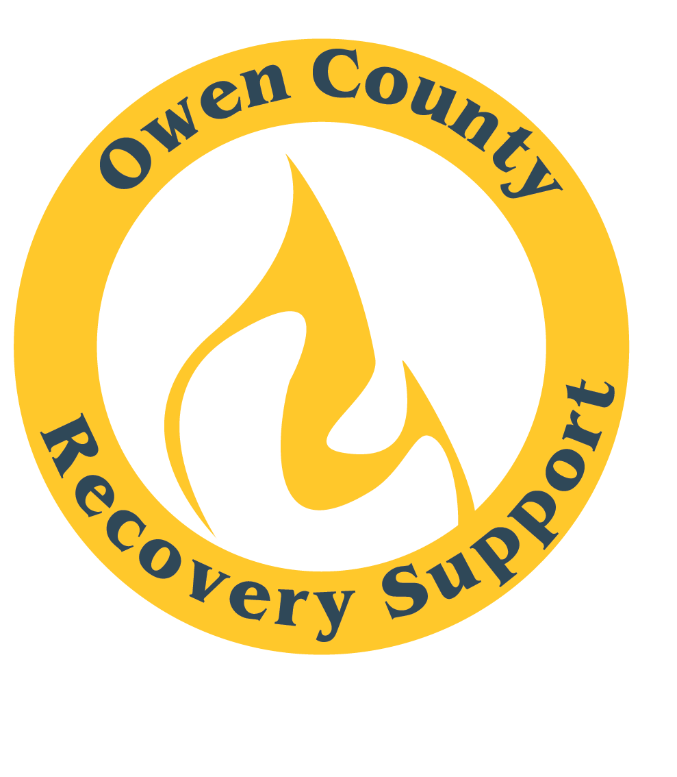 Logo that features a flame and says Owen Count Recovery Support